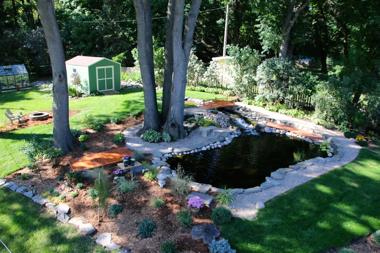 2014 15000 gal pond everyone should have a koi pond for Koi pond builders mn