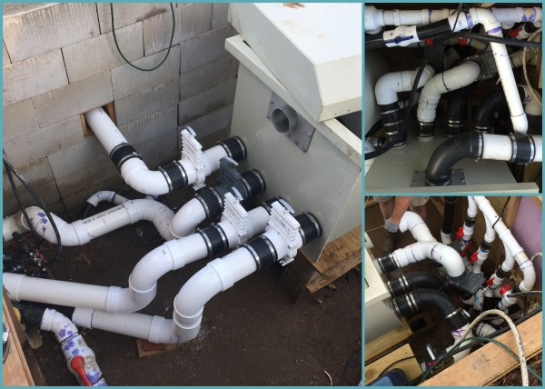 Better looking pipework ...upper right photo taken in May 2015 and the lower right photo taken about 6 weeks later in 2015....thinking the 2016 arrangement is most likely going to remain ;-)
