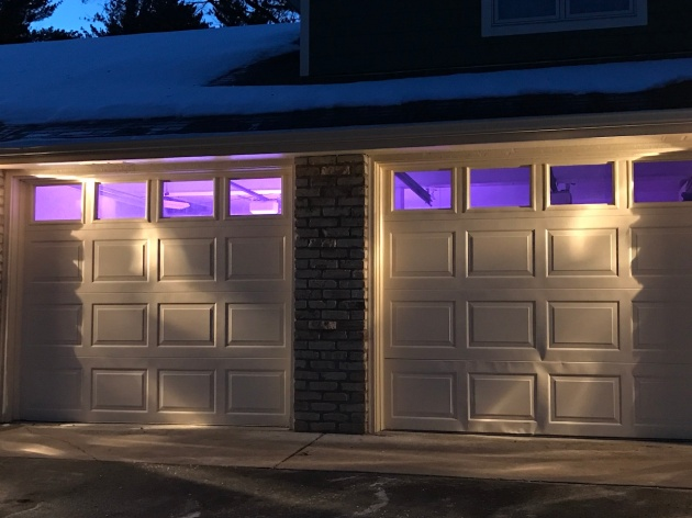 Our garage has a pleasant purple glow :-)